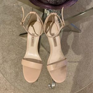 Zara Nude/Blush Sandals...Size 38